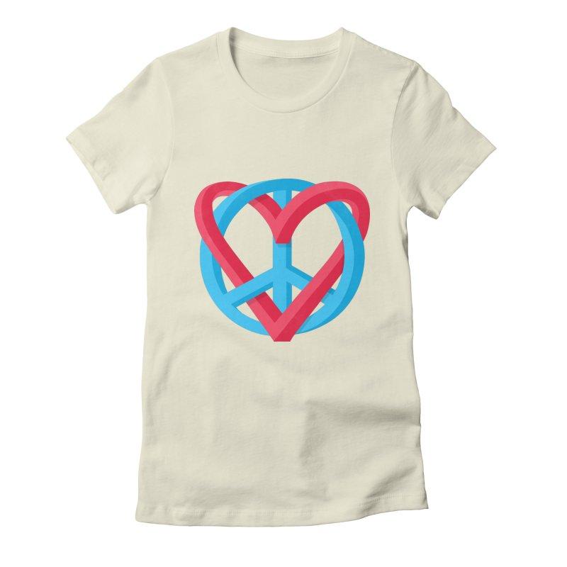 Peace + Love Women's T-Shirt by Corsac's Artist Shop