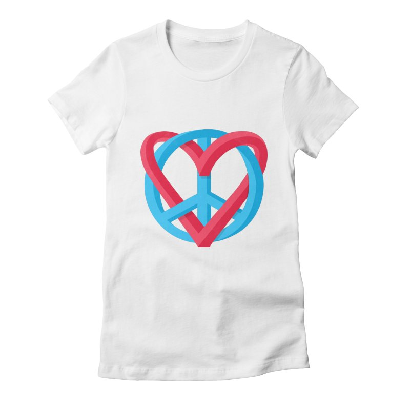 Peace + Love Women's T-Shirt by Corsac's Artist Shop