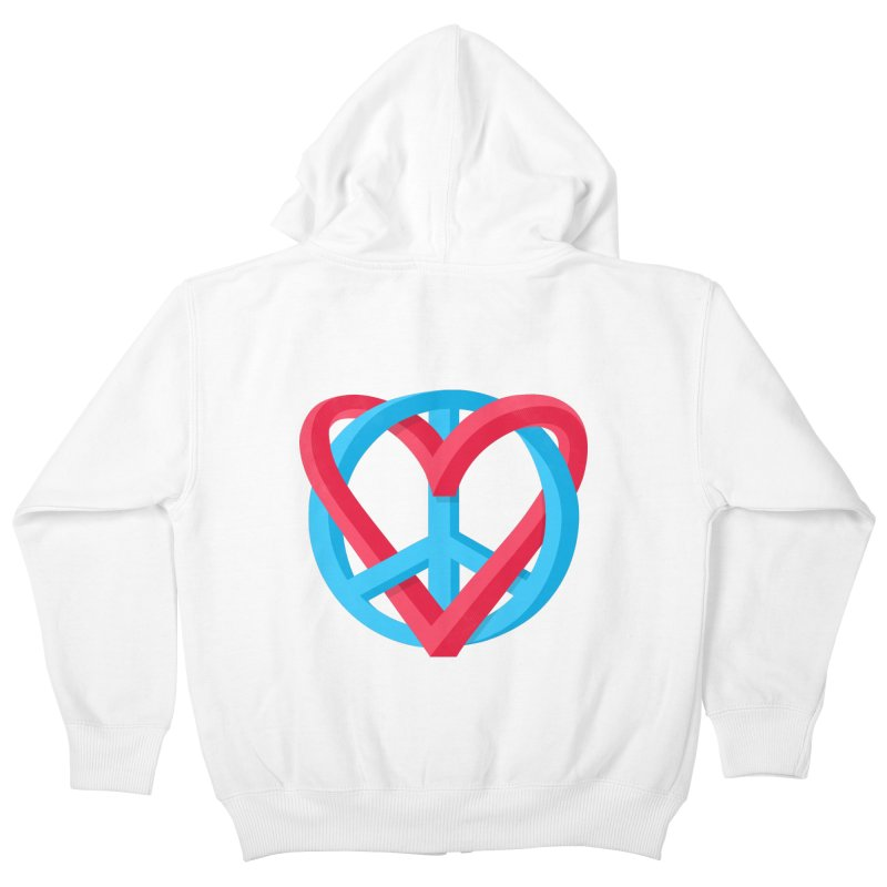 Peace + Love Kids Zip-Up Hoody by Corsac's Artist Shop