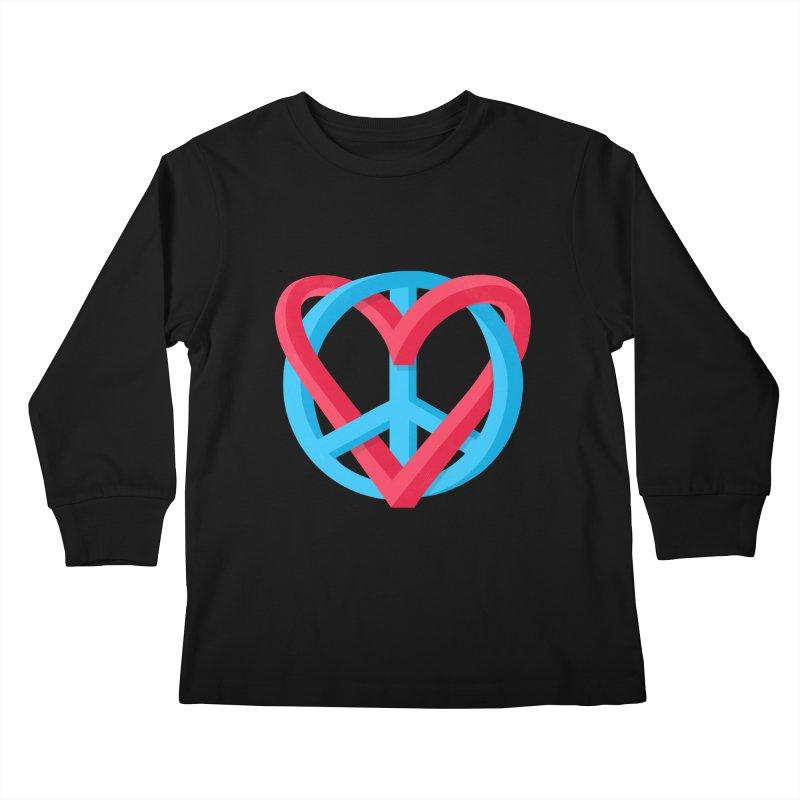 Peace + Love Kids Longsleeve T-Shirt by Corsac's Artist Shop