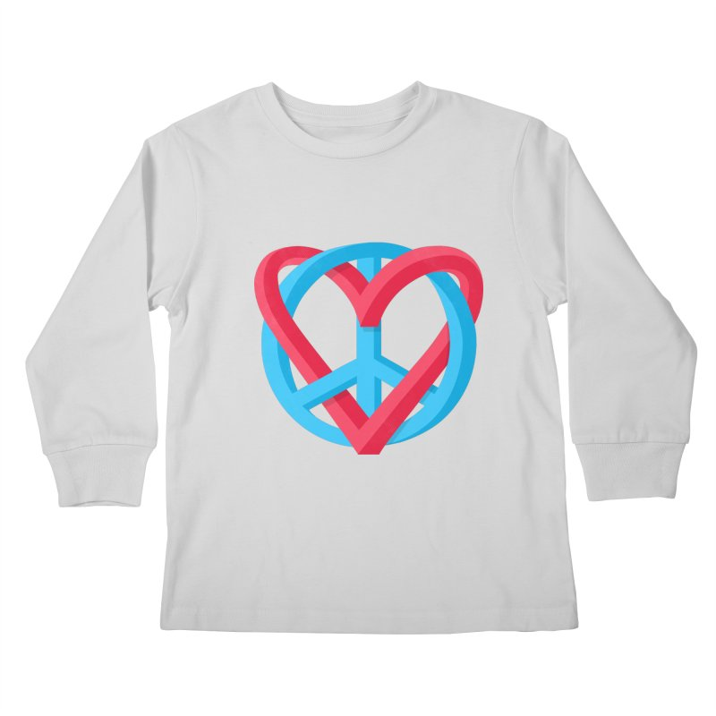 Peace + Love Kids Longsleeve T-Shirt by Corsac's Artist Shop