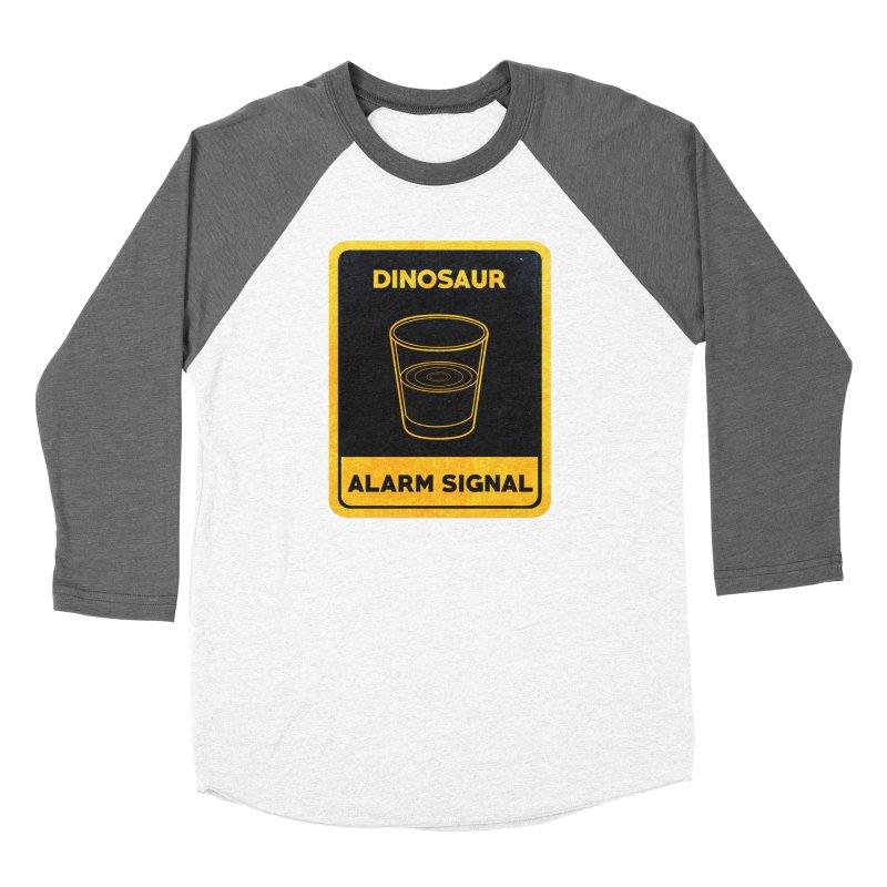 Dinosaur Alarm Signal Men's Baseball Triblend Longsleeve T-Shirt by Corsac's Artist Shop