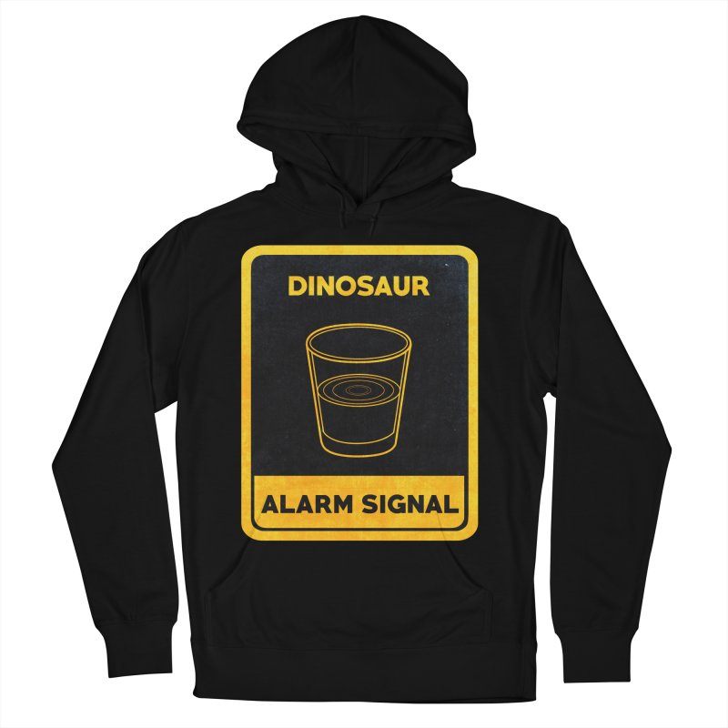 Dinosaur Alarm Signal Men's French Terry Pullover Hoody by Corsac's Artist Shop