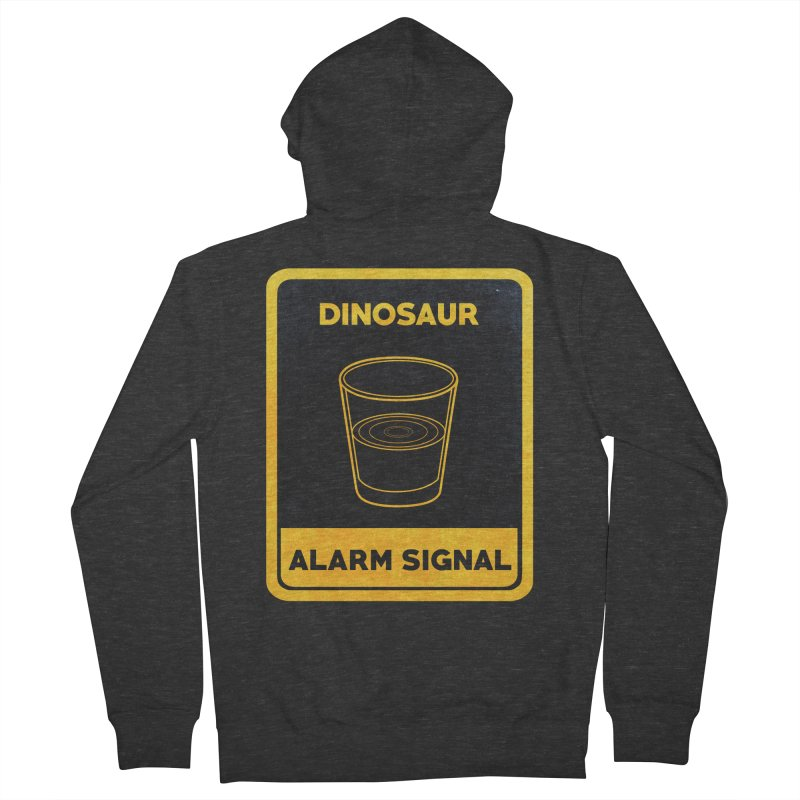 Dinosaur Alarm Signal Women's Zip-Up Hoody by Corsac's Artist Shop