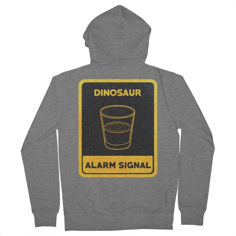 Dinosaur Alarm Signal Women's Zip-Up Hoody by Corsac's Artist Shop