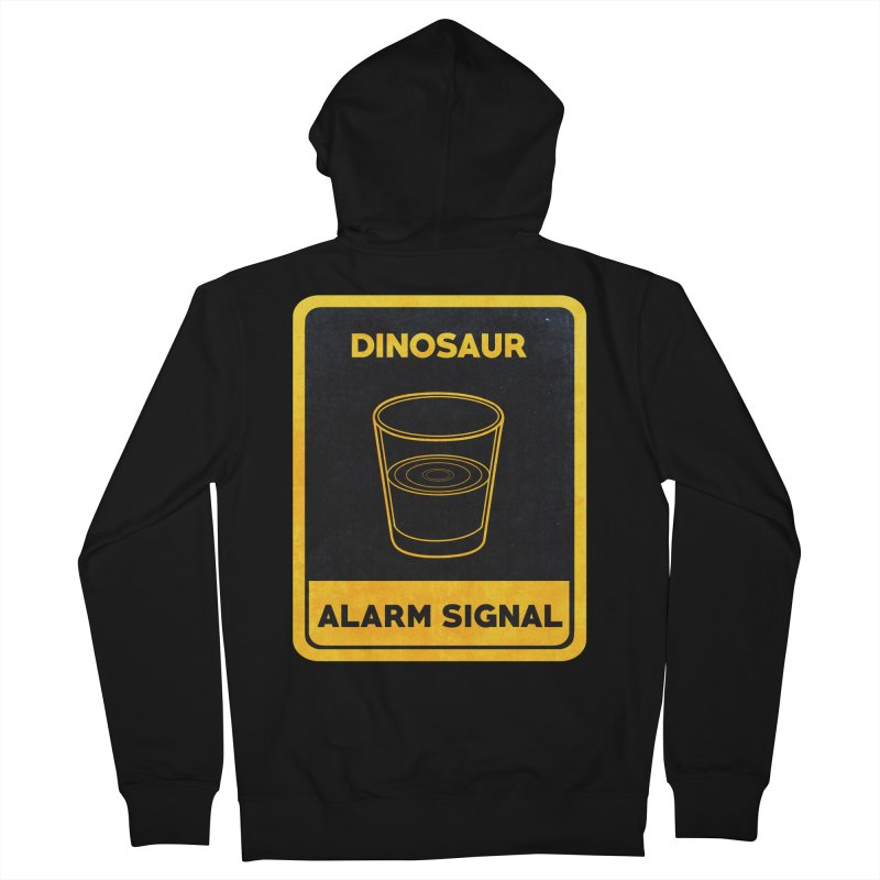 Dinosaur Alarm Signal Women's French Terry Zip-Up Hoody by Corsac's Artist Shop