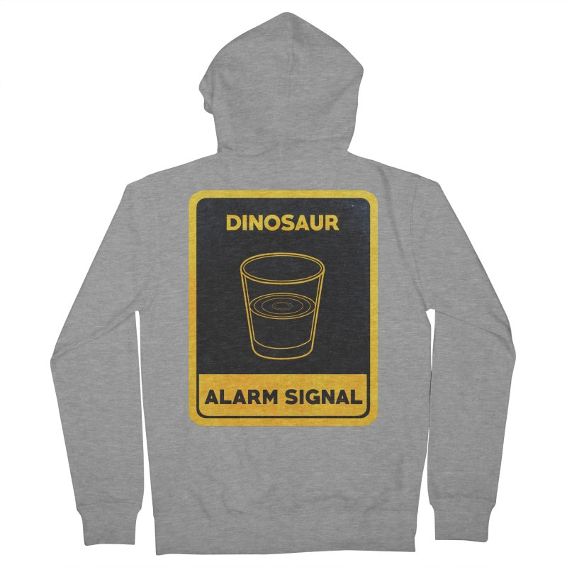Dinosaur Alarm Signal Men's French Terry Zip-Up Hoody by Corsac's Artist Shop