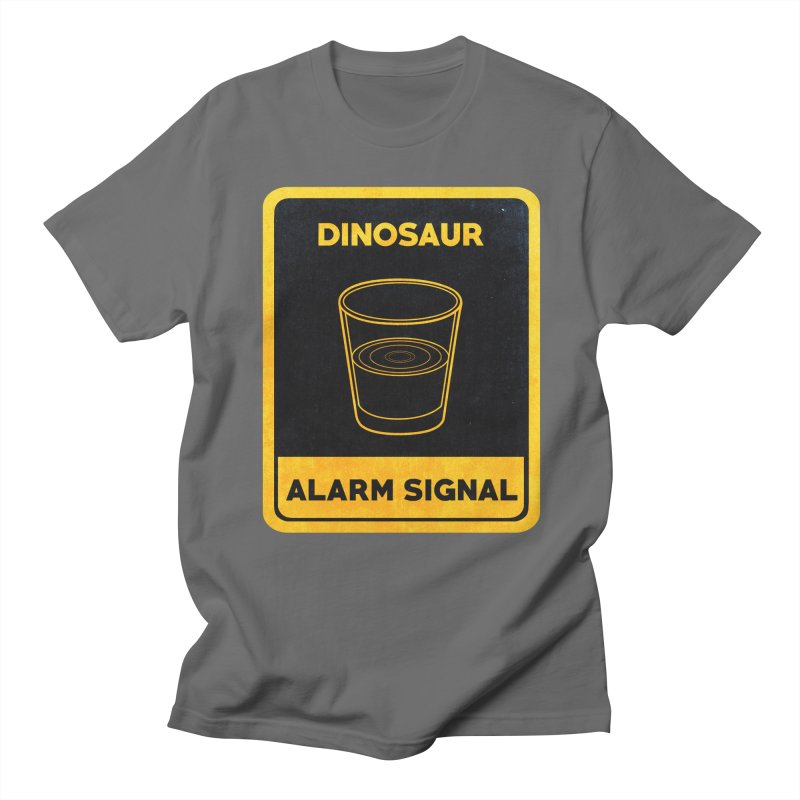 Dinosaur Alarm Signal Men's T-Shirt by Corsac's Artist Shop