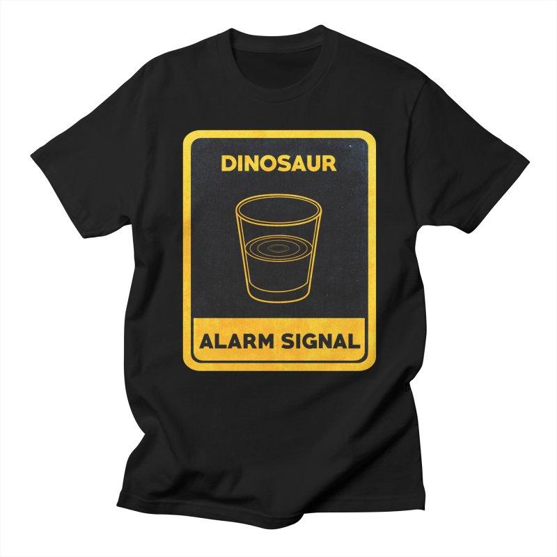 Dinosaur Alarm Signal Men's T-shirt by Corsac's Artist Shop