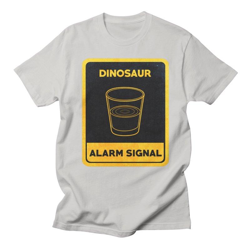 Dinosaur Alarm Signal Men's Regular T-Shirt by Corsac's Artist Shop