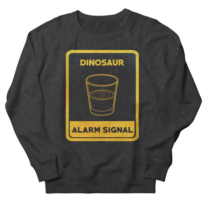Dinosaur Alarm Signal Men's French Terry Sweatshirt by Corsac's Artist Shop