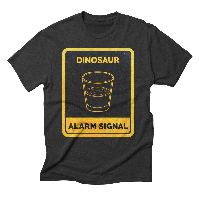 Dinosaur Alarm Signal Men's Triblend T-Shirt by Corsac's Artist Shop