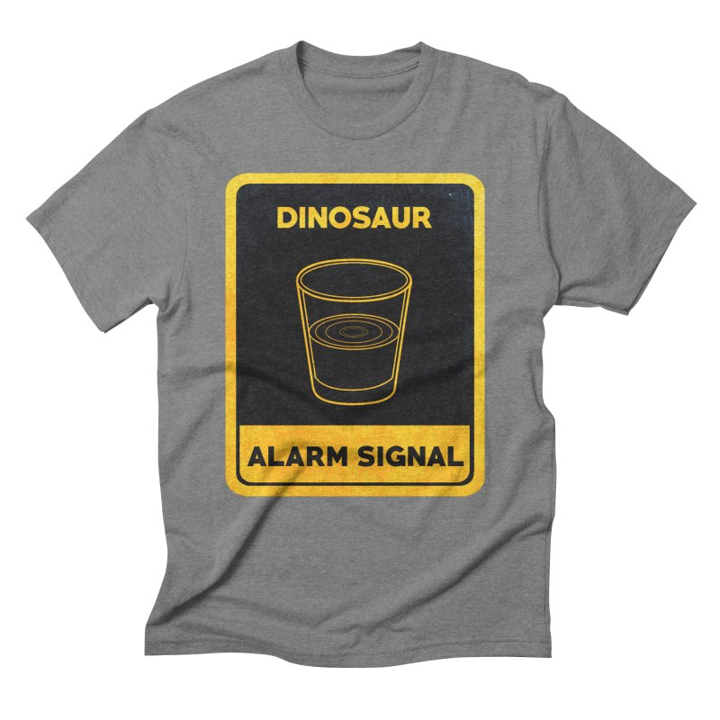Dinosaur Alarm Signal Men's Triblend T-Shirt by Corsac's Artist Shop