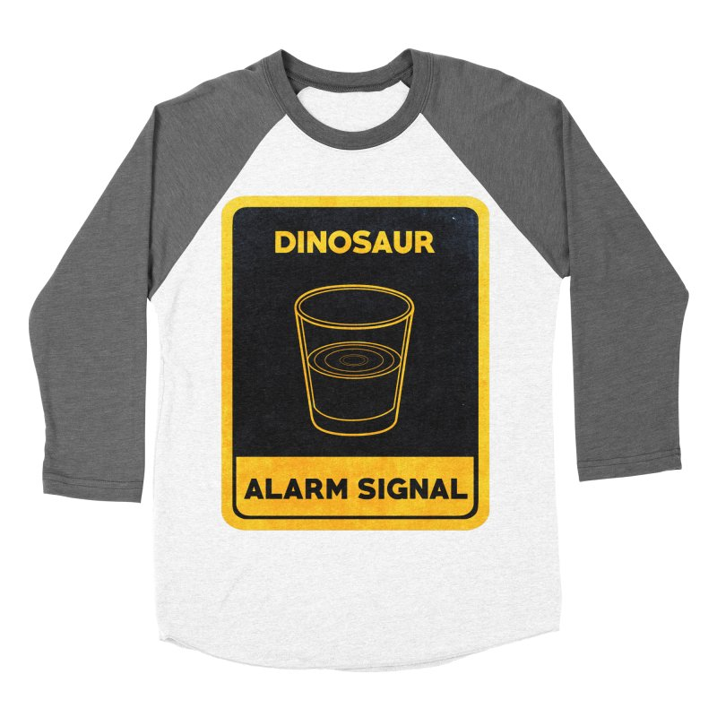 Dinosaur Alarm Signal Women's Baseball Triblend T-Shirt by Corsac's Artist Shop