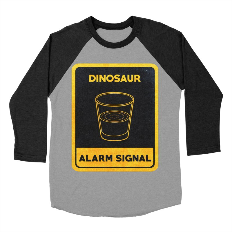 Dinosaur Alarm Signal Men's Baseball Triblend T-Shirt by Corsac's Artist Shop