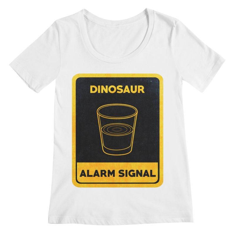 Dinosaur Alarm Signal Women's Scoopneck by Corsac's Artist Shop