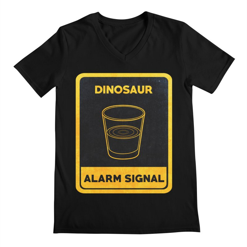 Dinosaur Alarm Signal Men's V-Neck by Corsac's Artist Shop