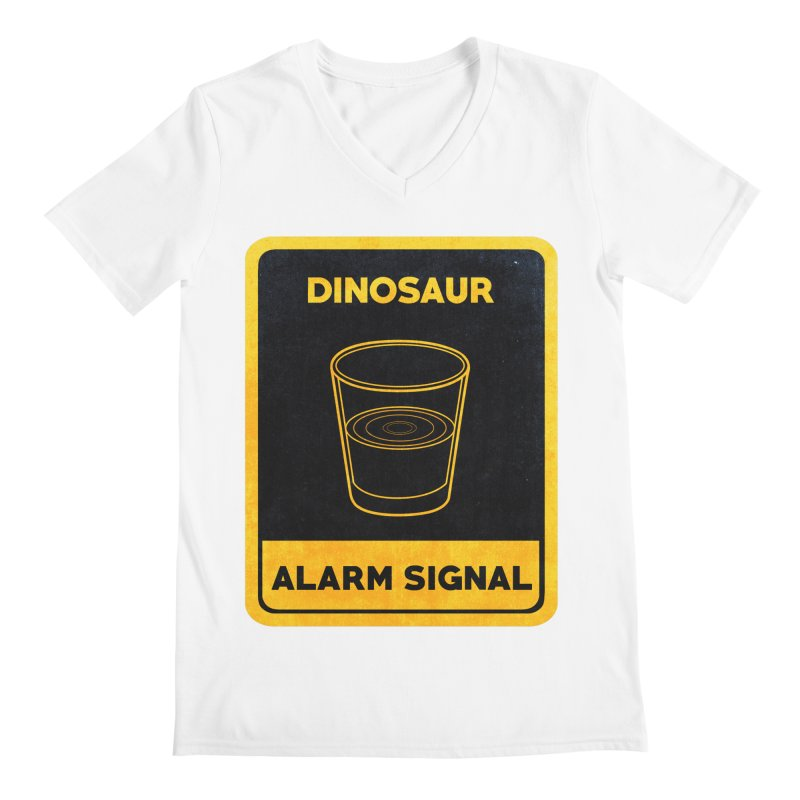 Dinosaur Alarm Signal Men's V-Neck by Corsac's Artist Shop