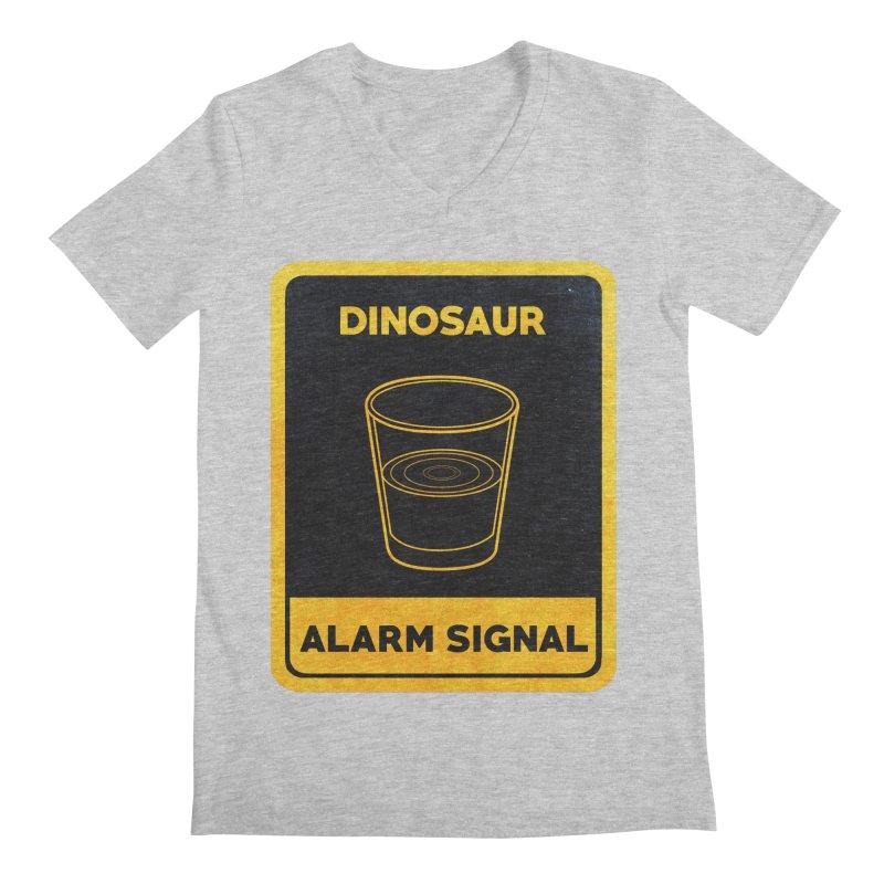 Dinosaur Alarm Signal Men's Regular V-Neck by Corsac's Artist Shop