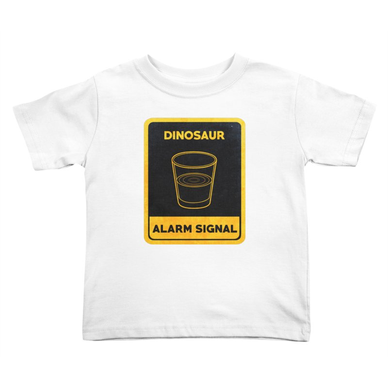 Dinosaur Alarm Signal Kids Toddler T-Shirt by Corsac's Artist Shop