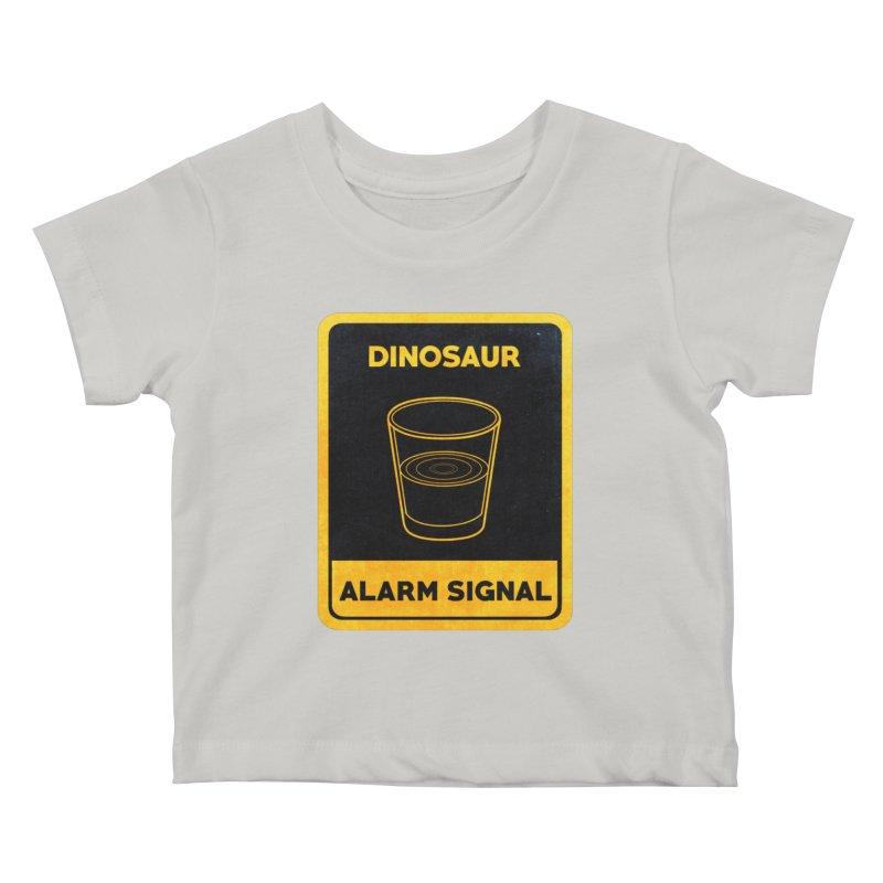 Dinosaur Alarm Signal Kids Baby T-Shirt by Corsac's Artist Shop