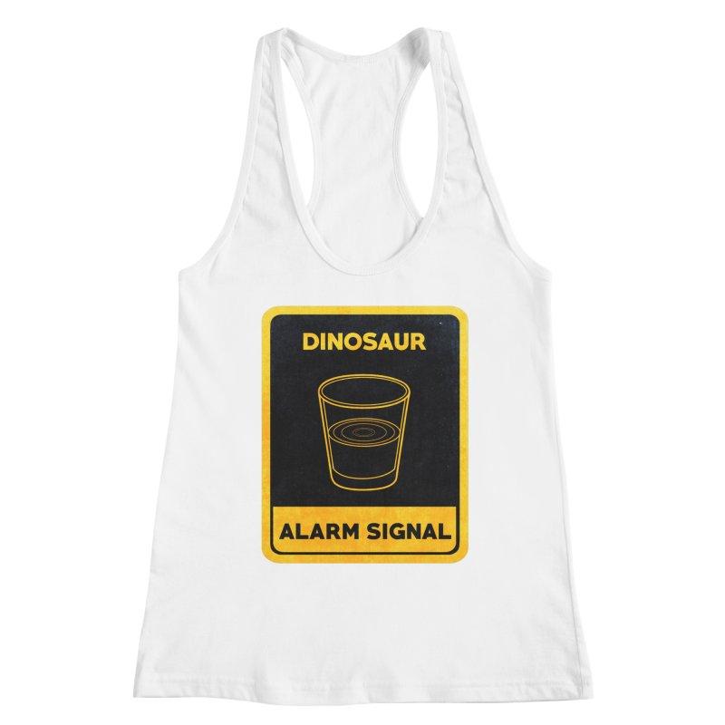 Dinosaur Alarm Signal Women's Tank by Corsac's Artist Shop