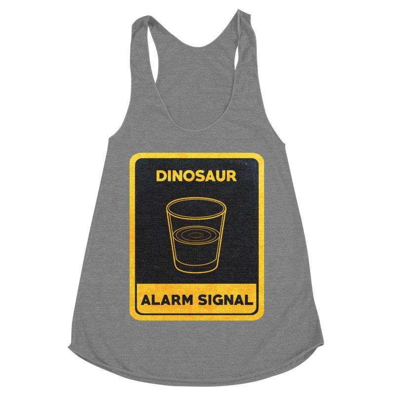 Dinosaur Alarm Signal Women's Racerback Triblend Tank by Corsac's Artist Shop