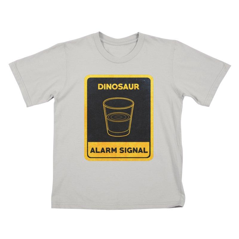 Dinosaur Alarm Signal Kids T-shirt by Corsac's Artist Shop