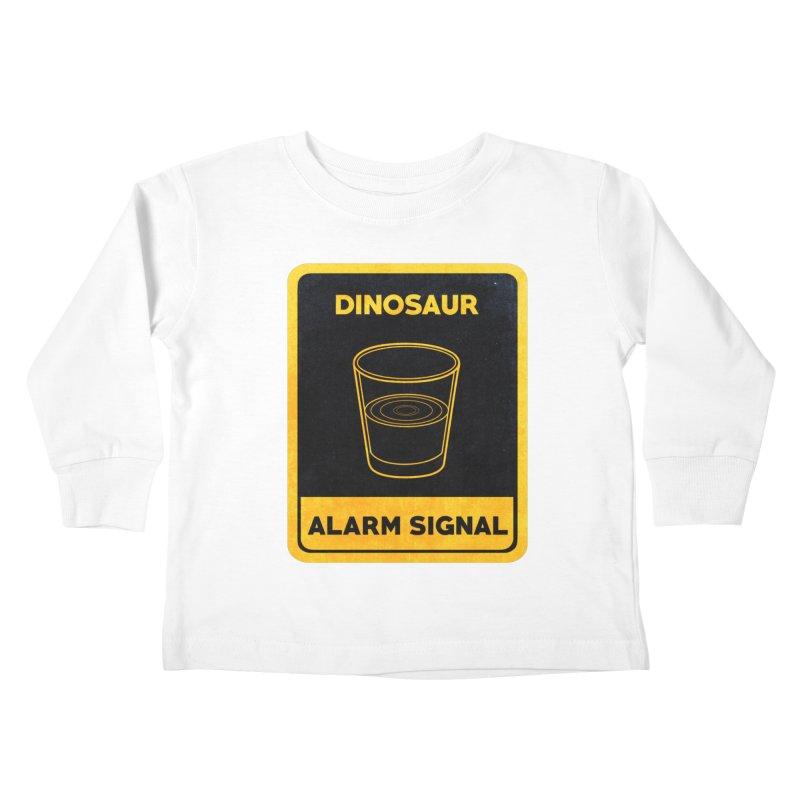 Dinosaur Alarm Signal Kids Toddler Longsleeve T-Shirt by Corsac's Artist Shop