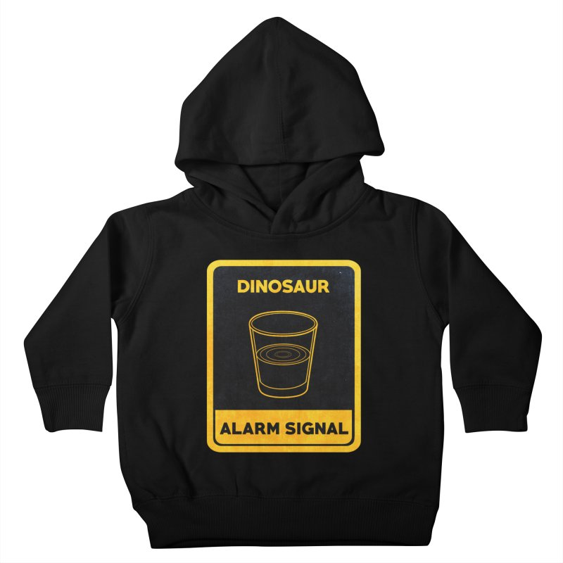 Dinosaur Alarm Signal Kids Toddler Pullover Hoody by Corsac's Artist Shop