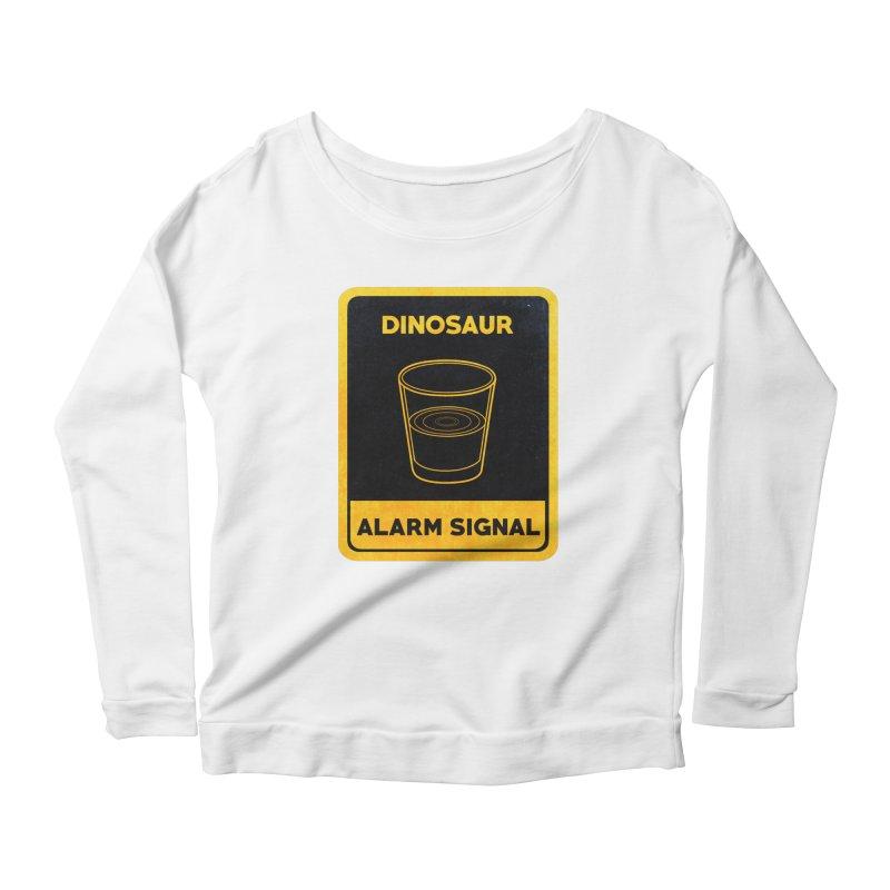 Dinosaur Alarm Signal Women's Scoop Neck Longsleeve T-Shirt by Corsac's Artist Shop