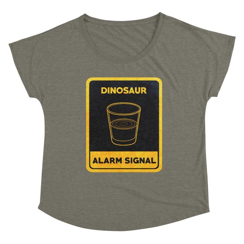 Dinosaur Alarm Signal Women's Dolman Scoop Neck by Corsac's Artist Shop