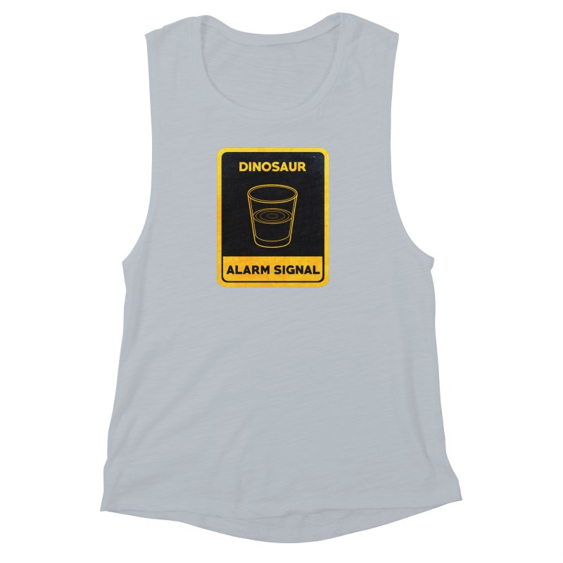 Dinosaur Alarm Signal Women's Muscle Tank by Corsac's Artist Shop