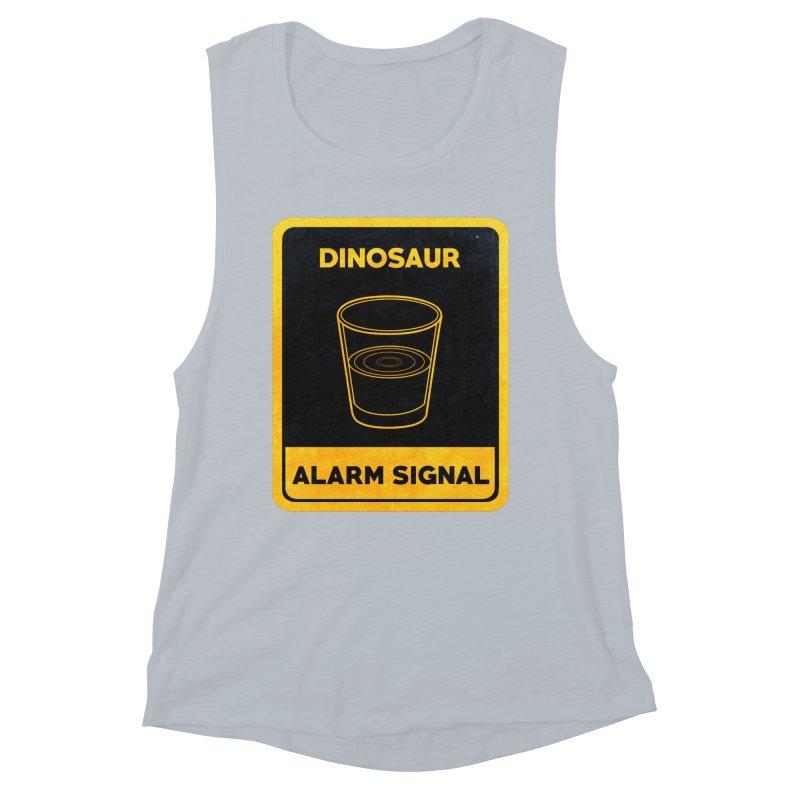 Dinosaur Alarm Signal Women's Muscle Tank by Corsac's Artist Shop