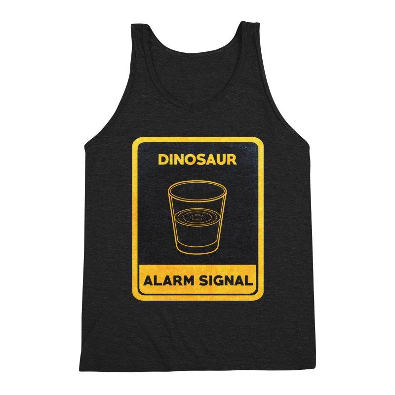 Dinosaur Alarm Signal Men's Triblend Tank by Corsac's Artist Shop