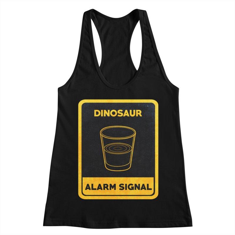 Dinosaur Alarm Signal Women's Racerback Tank by Corsac's Artist Shop
