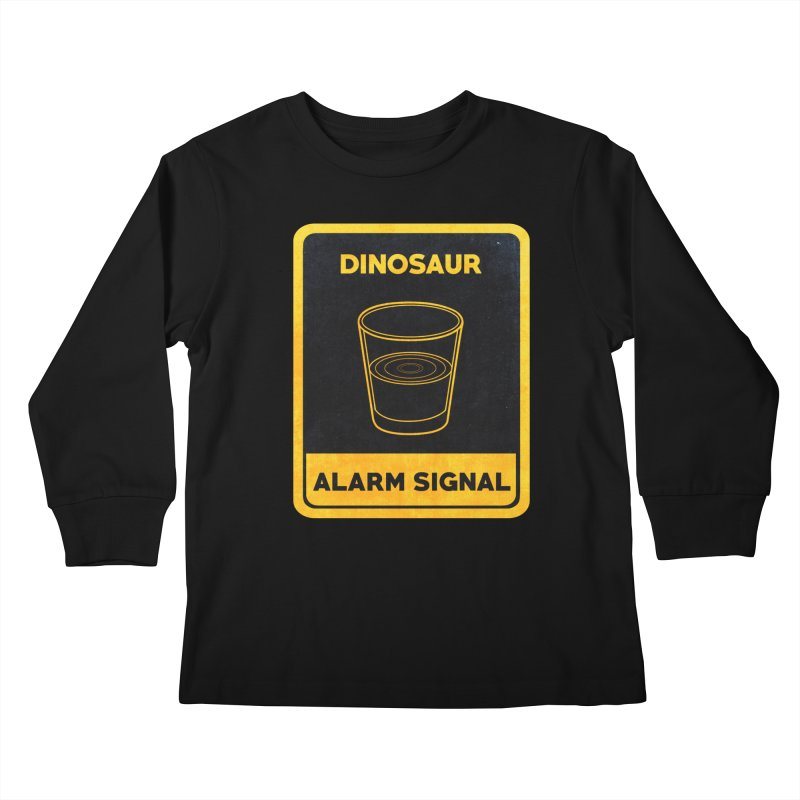 Dinosaur Alarm Signal Kids Longsleeve T-Shirt by Corsac's Artist Shop