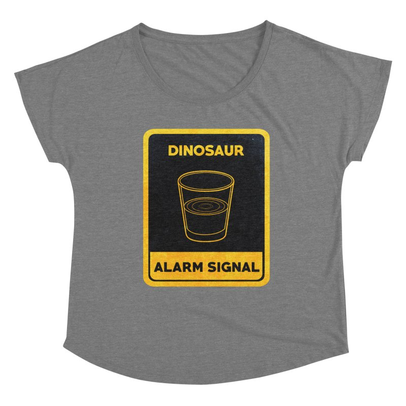 Dinosaur Alarm Signal Women's Scoop Neck by Corsac's Artist Shop