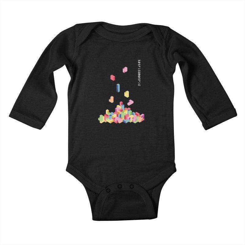 Tetrisometric Kids Baby Longsleeve Bodysuit by Corsac's Artist Shop