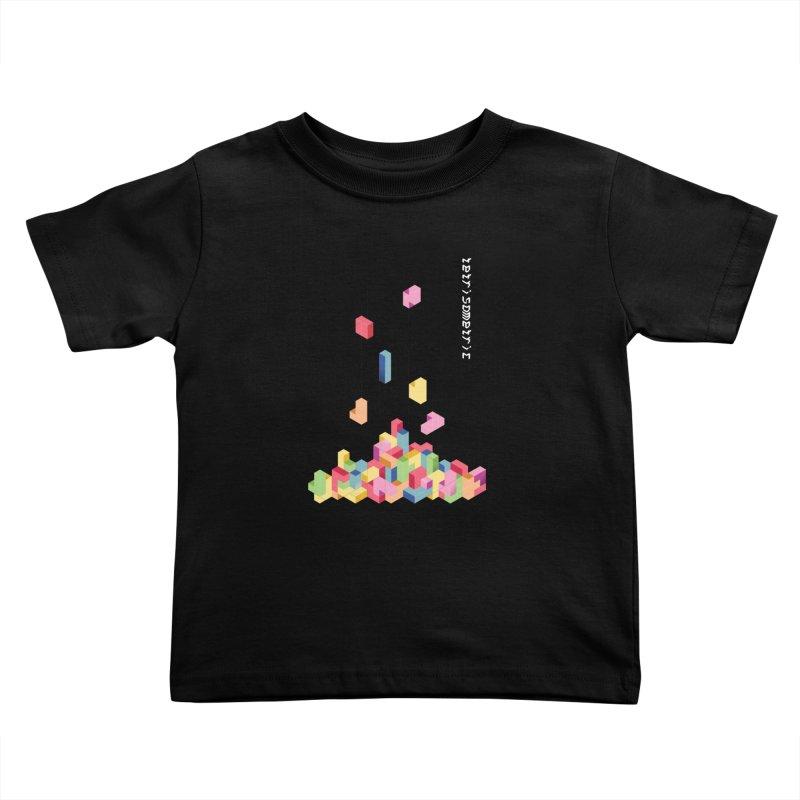 Tetrisometric Kids Toddler T-Shirt by Corsac's Artist Shop