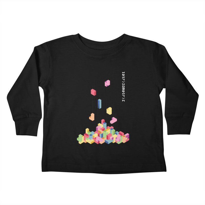 Tetrisometric Kids Toddler Longsleeve T-Shirt by Corsac's Artist Shop