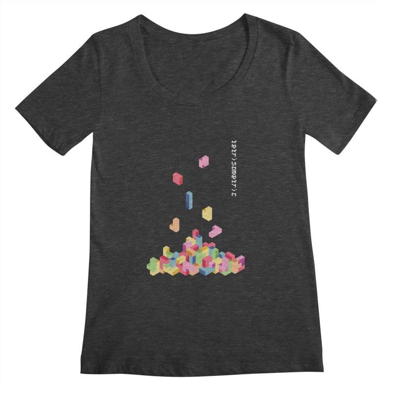 Tetrisometric Women's Scoopneck by Corsac's Artist Shop