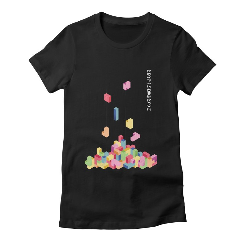Tetrisometric Women's Fitted T-Shirt by Corsac's Artist Shop