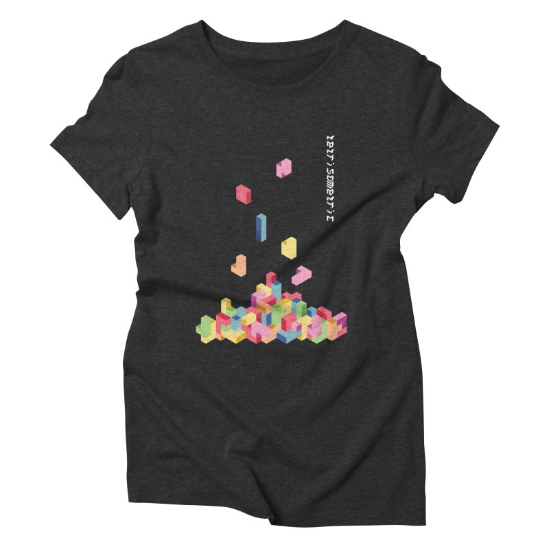 Tetrisometric Women's Triblend T-Shirt by Corsac's Artist Shop