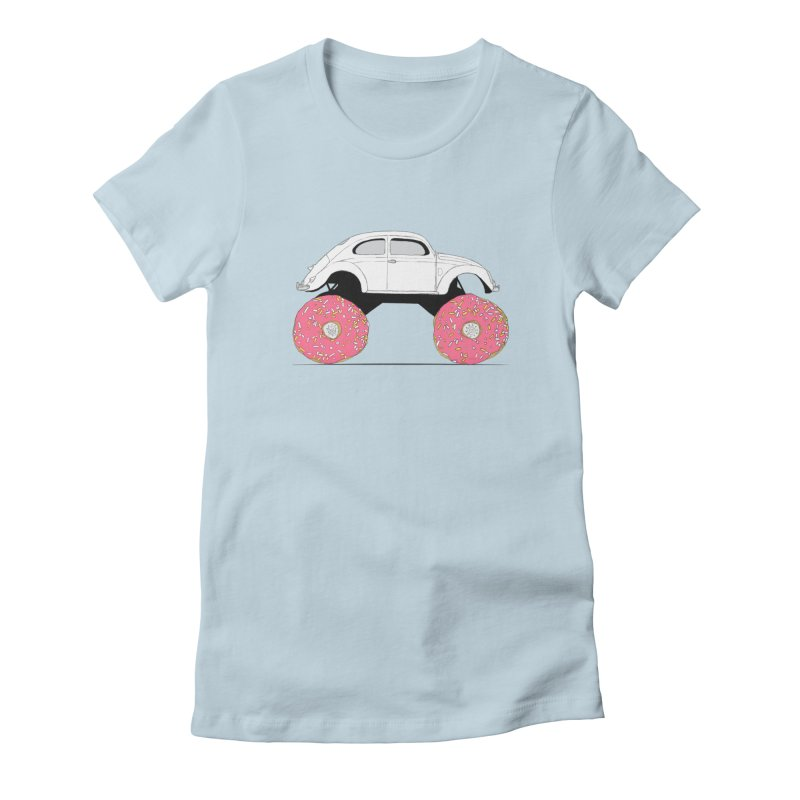 Trunkin' Donuts Women's Fitted T-Shirt by Corsac's Artist Shop