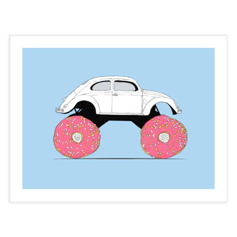 Trunkin' Donuts Home Fine Art Print by Corsac's Artist Shop