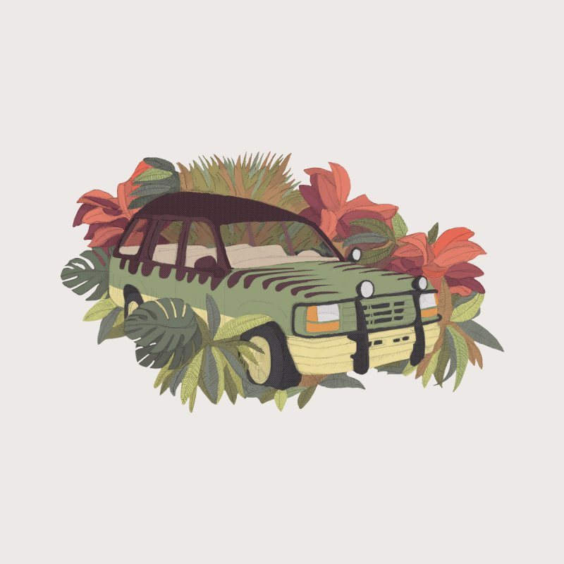 Jurassic Car   by Corsac's Artist Shop