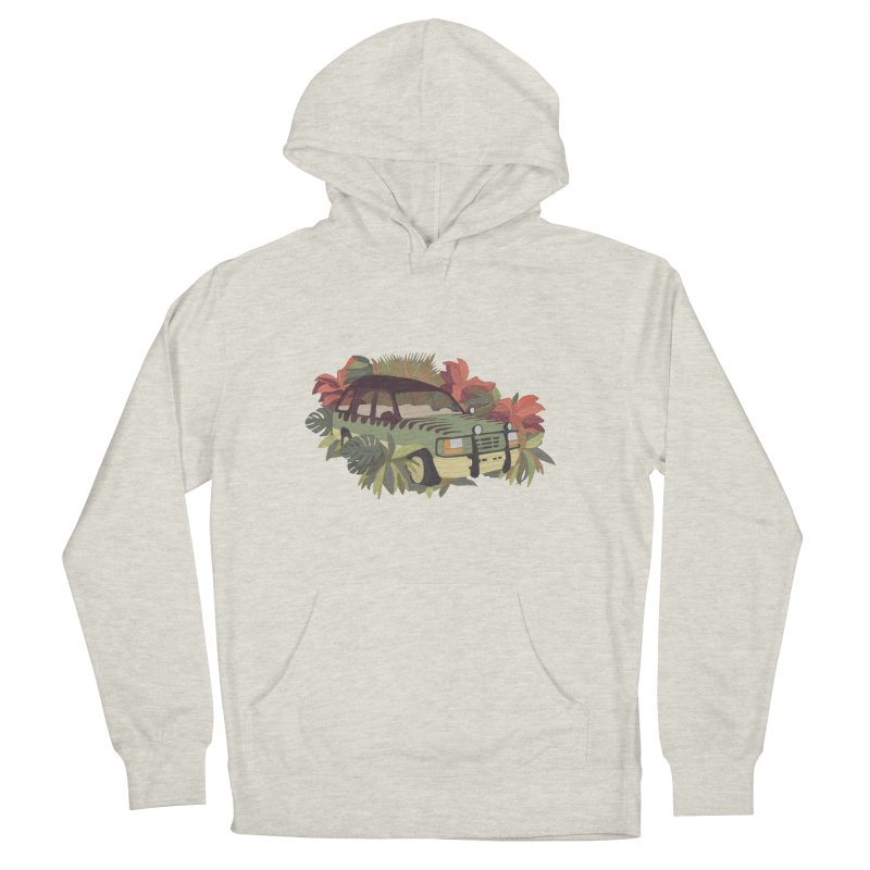 Jurassic Car Men's French Terry Pullover Hoody by Corsac's Artist Shop