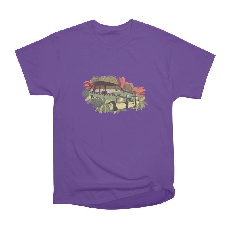 Jurassic Car Women's Heavyweight Unisex T-Shirt by Corsac's Artist Shop