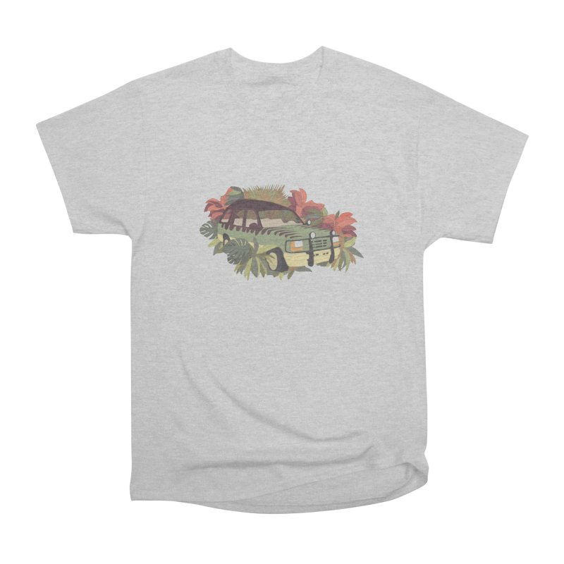 Jurassic Car Women's Heavyweight Unisex T-Shirt by Corsac's Artist Shop